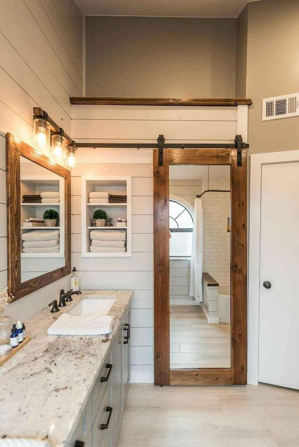 110 Best Farmhouse Bathroom Decor Ideas (112)