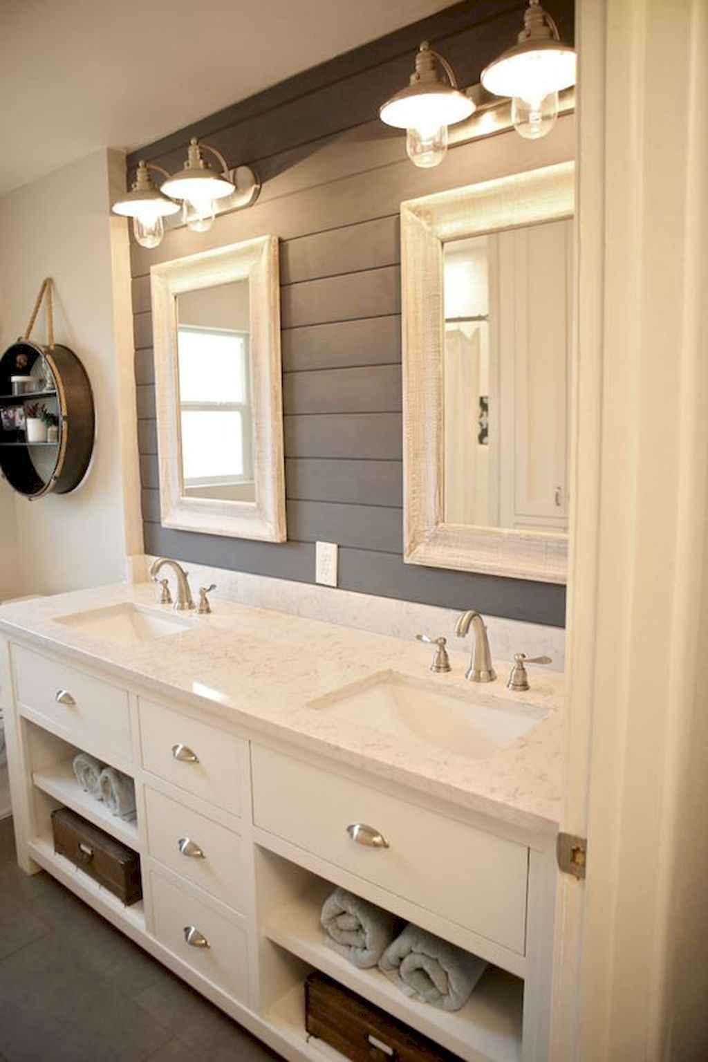 110 Best Farmhouse Bathroom Decor Ideas (127)