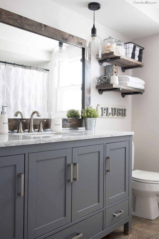 110 Best Farmhouse Bathroom Decor Ideas (134)