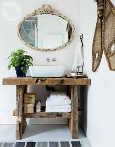 110 Best Farmhouse Bathroom Decor Ideas (135)