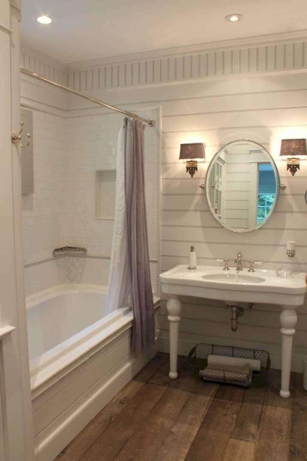 110 Best Farmhouse Bathroom Decor Ideas (144)