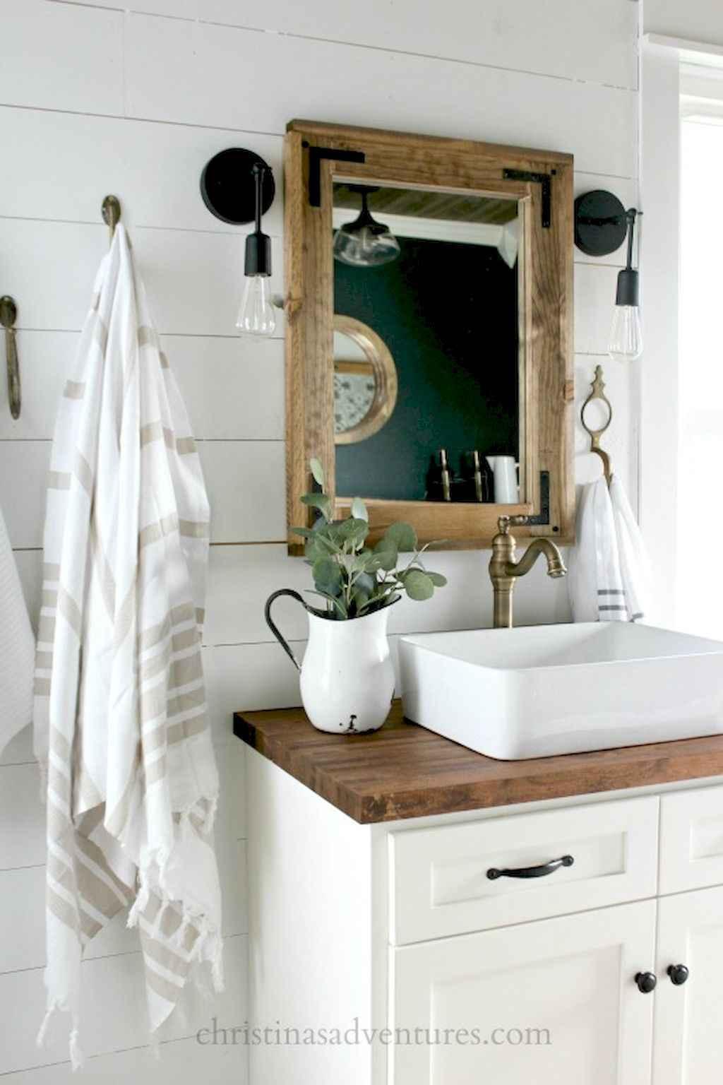 110 Best Farmhouse Bathroom Decor Ideas (153)