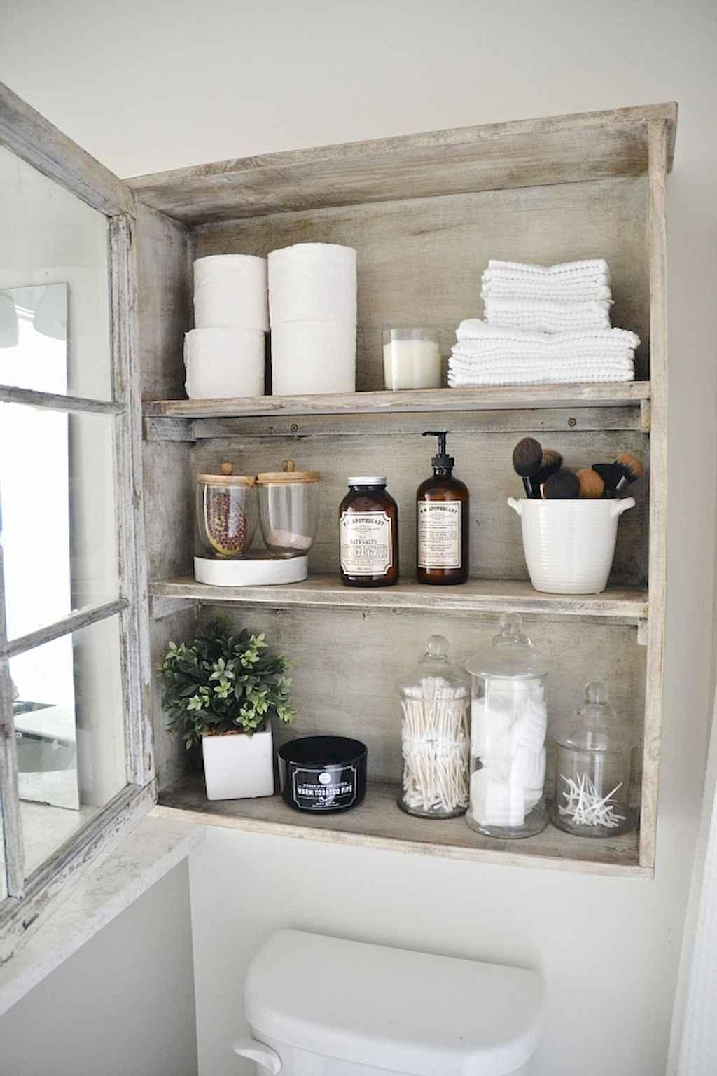 110 Best Farmhouse Bathroom Decor Ideas (173)