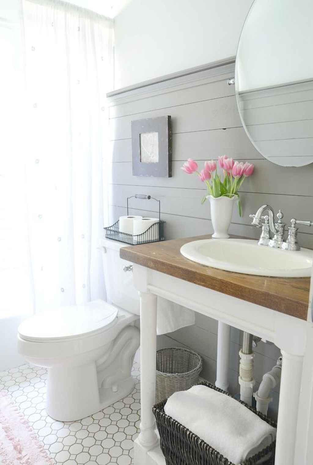 110 Best Farmhouse Bathroom Decor Ideas (190)