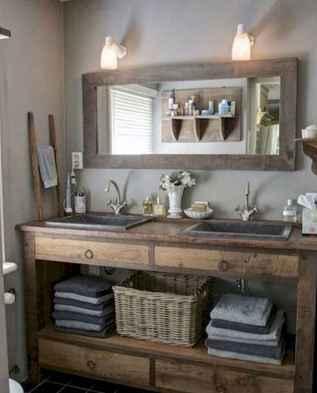 125 Brilliant Farmhouse Bathroom Vanity Remodel Ideas (51)