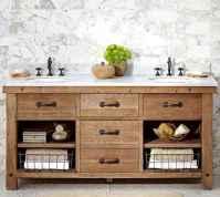 125 Brilliant Farmhouse Bathroom Vanity Remodel Ideas (59)