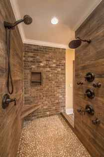 80 Awesome Farmhouse Tile Shower Decor Ideas (31)