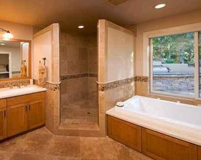 80 Awesome Farmhouse Tile Shower Decor Ideas (45)