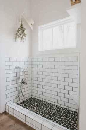 80 Awesome Farmhouse Tile Shower Decor Ideas (80)