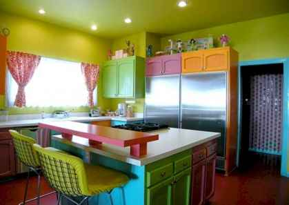Top 40 Colorful Kitchen Cabinet Remodel Ideas For First Apartment (19)