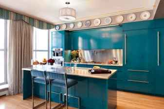 Top 40 Colorful Kitchen Cabinet Remodel Ideas For First Apartment (23)
