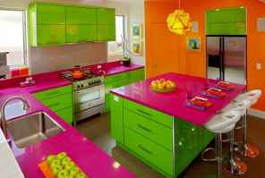 Top 40 Colorful Kitchen Cabinet Remodel Ideas For First Apartment (26)