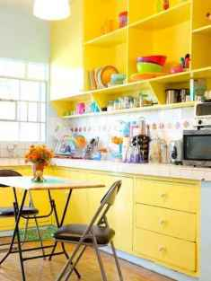 Top 40 Colorful Kitchen Cabinet Remodel Ideas For First Apartment (31)