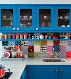 Top 40 Colorful Kitchen Cabinet Remodel Ideas For First Apartment (4)