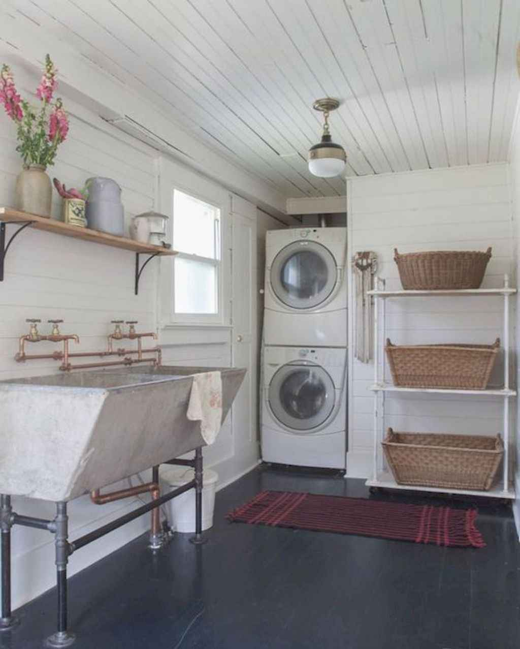 45 Rustic Farmhouse Laundry Room Design Ideas and Makeover (14)