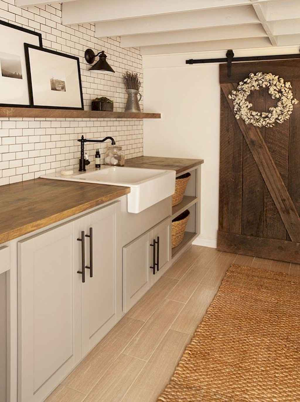 45 Rustic Farmhouse Laundry Room Design Ideas and Makeover (18)
