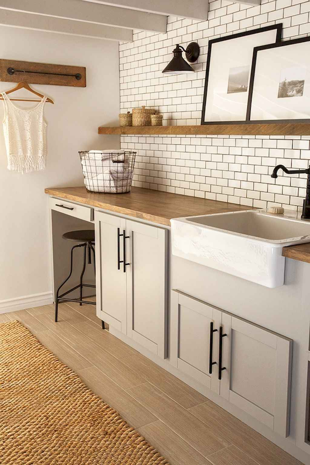 45 Rustic Farmhouse Laundry Room Design Ideas and Makeover (30)