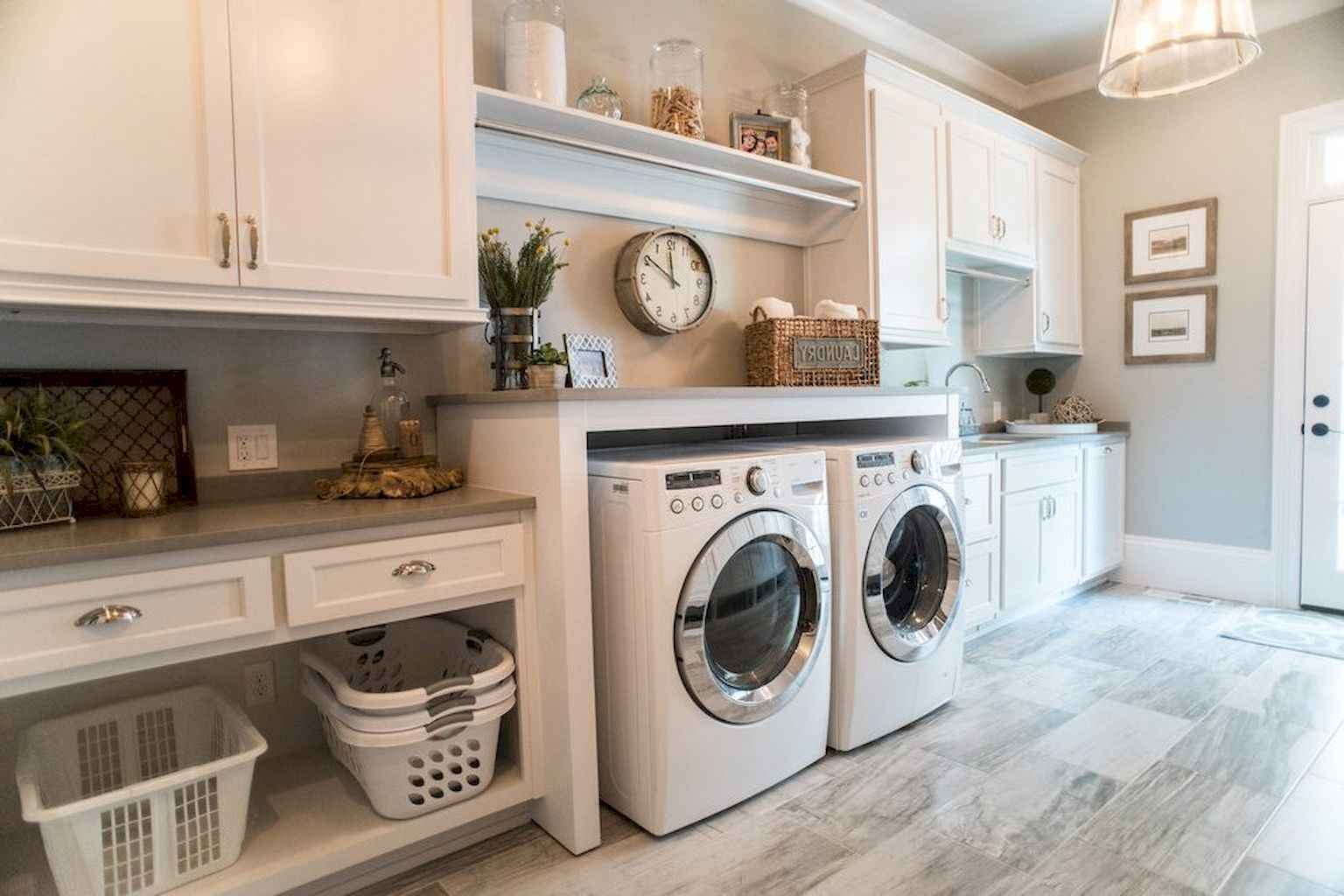45 Rustic Farmhouse Laundry Room Design Ideas and Makeover (42)