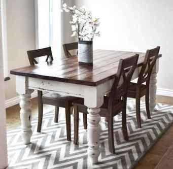 60 Rustic Farmhouse Dining Room Table Decor Ideas and Makeover (10)