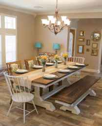 60 Rustic Farmhouse Dining Room Table Decor Ideas and Makeover (13)