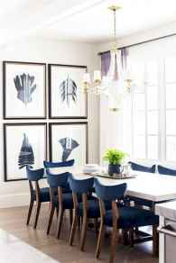 60 Rustic Farmhouse Dining Room Table Decor Ideas and Makeover (15)