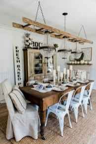 60 Rustic Farmhouse Dining Room Table Decor Ideas and Makeover (24)