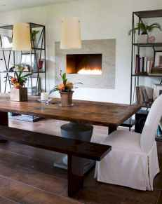 60 Rustic Farmhouse Dining Room Table Decor Ideas and Makeover (27)