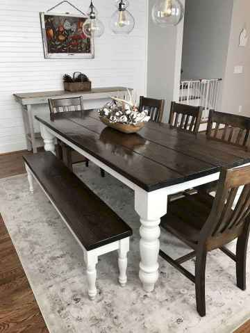 60 Rustic Farmhouse Dining Room Table Decor Ideas and Makeover (3)