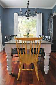 60 Rustic Farmhouse Dining Room Table Decor Ideas and Makeover (34)