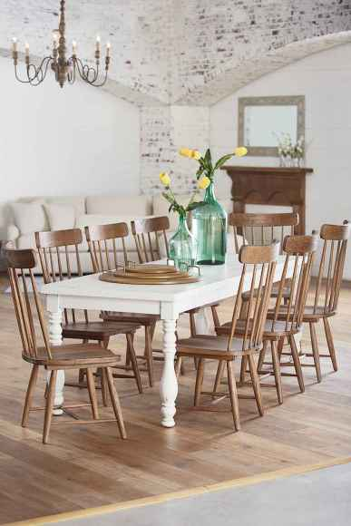 60 Rustic Farmhouse Dining Room Table Decor Ideas and Makeover (36)