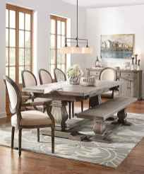 60 Rustic Farmhouse Dining Room Table Decor Ideas and Makeover (46)