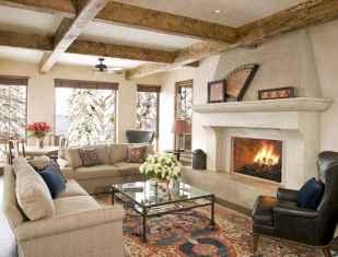 70 Rustic Farmhouse Living Room Decor Ideas (24)
