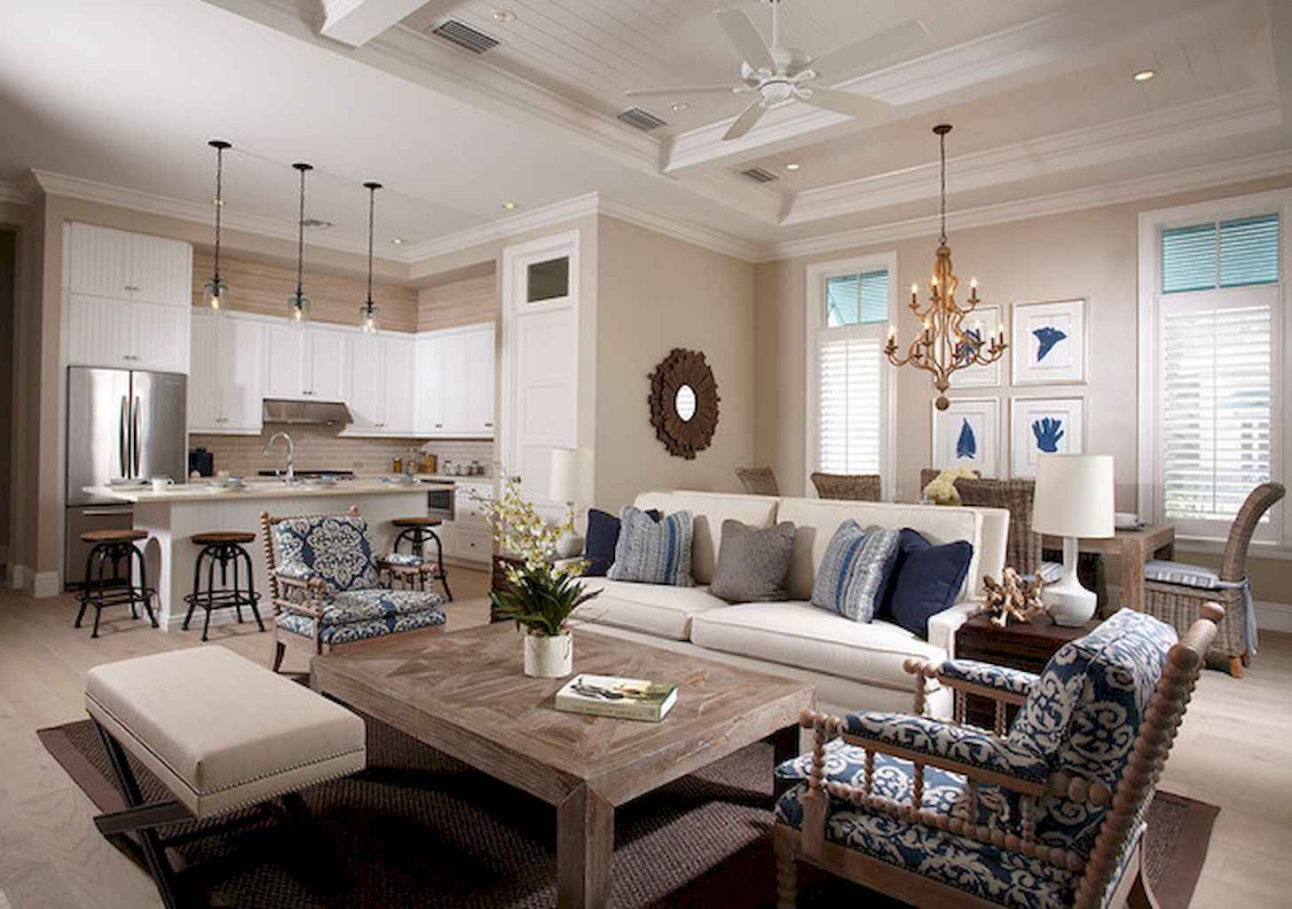 70 Rustic Farmhouse Living Room Decor Ideas (25)