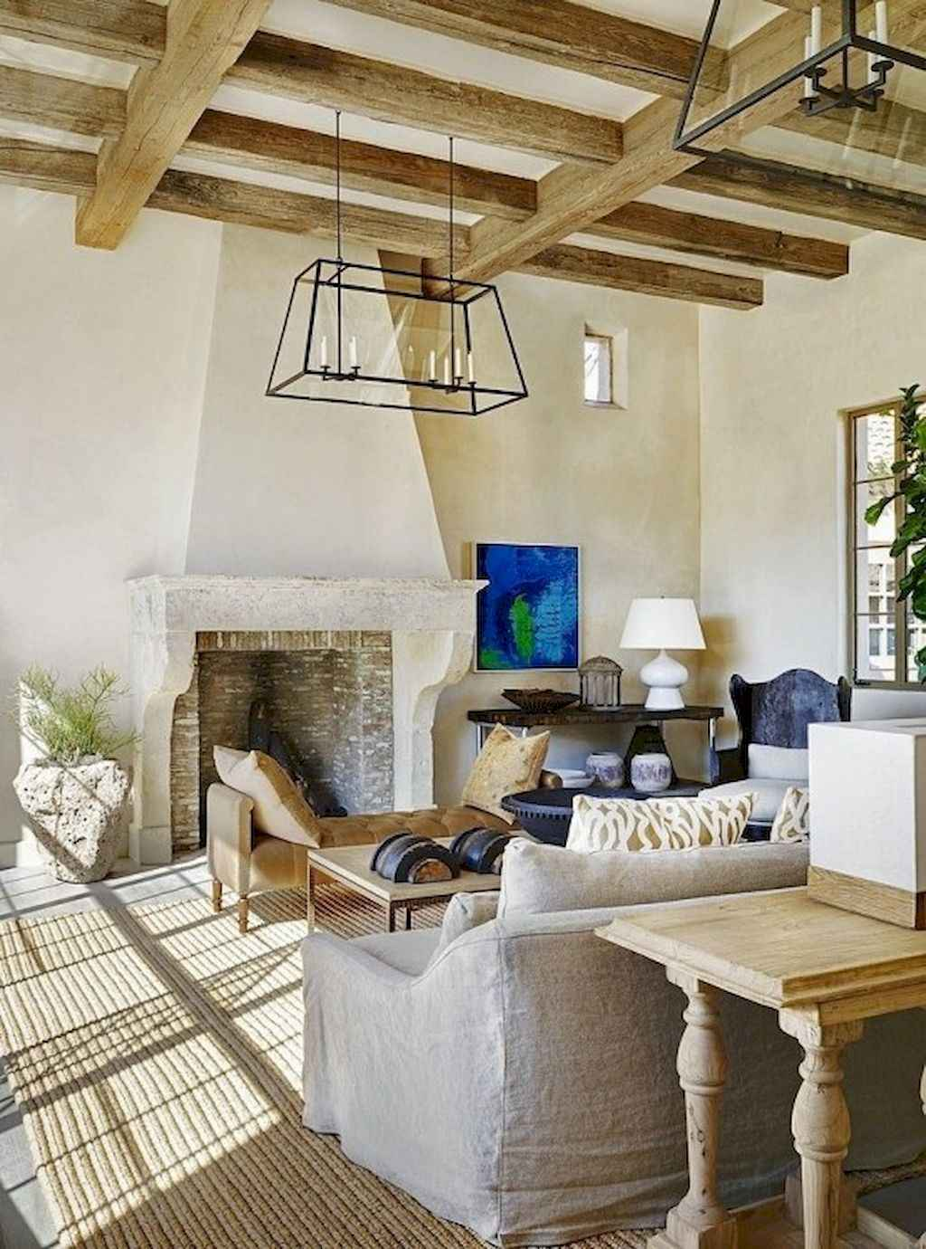 70 Rustic Farmhouse Living Room Decor Ideas (28)