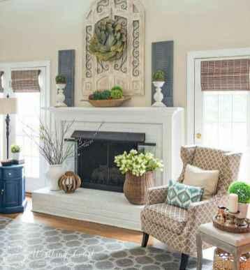 70 Rustic Farmhouse Living Room Decor Ideas (32)