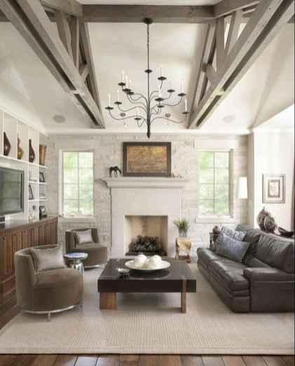 70 Rustic Farmhouse Living Room Decor Ideas (35)