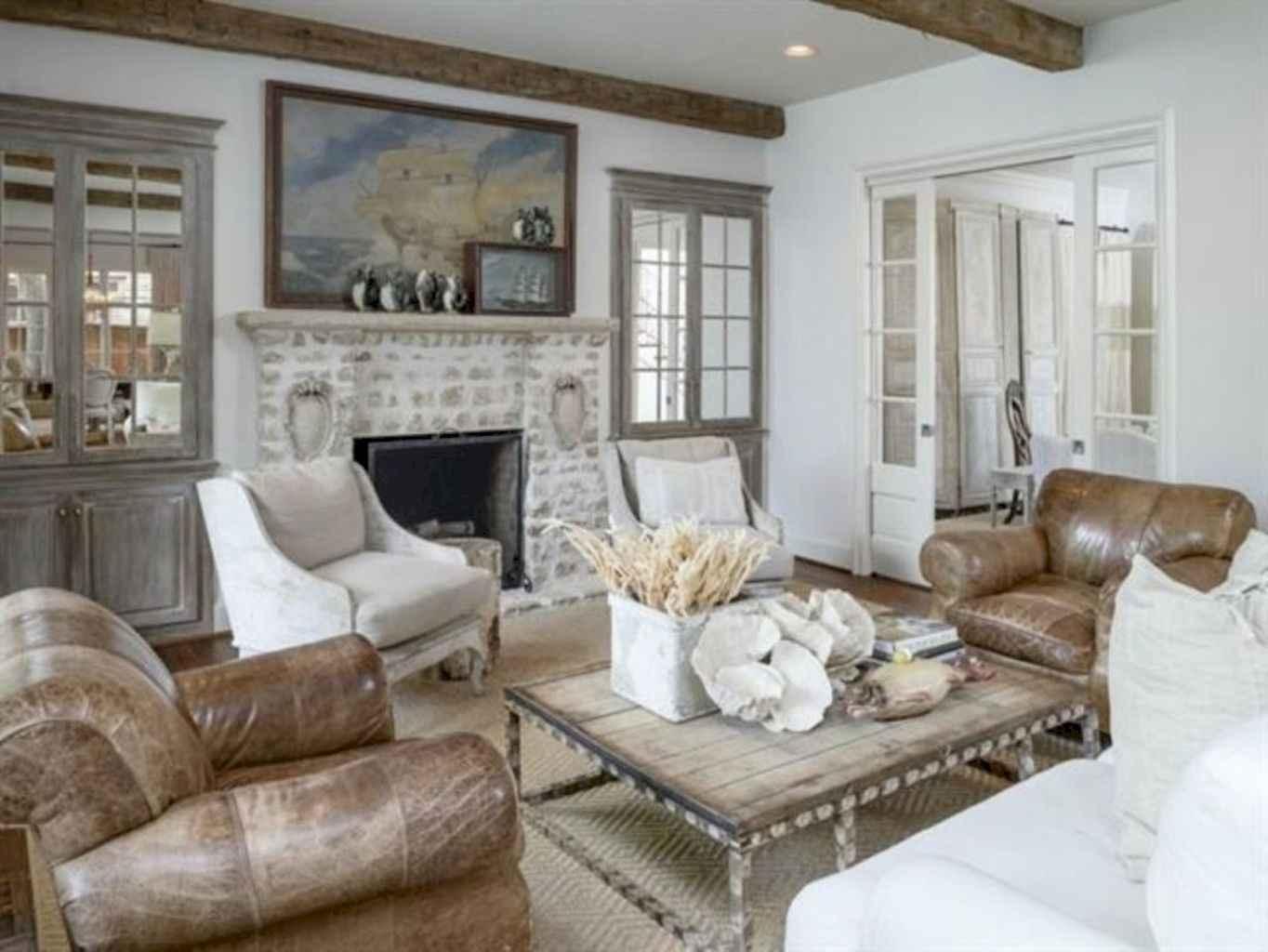 70 Rustic Farmhouse Living Room Decor Ideas (45)