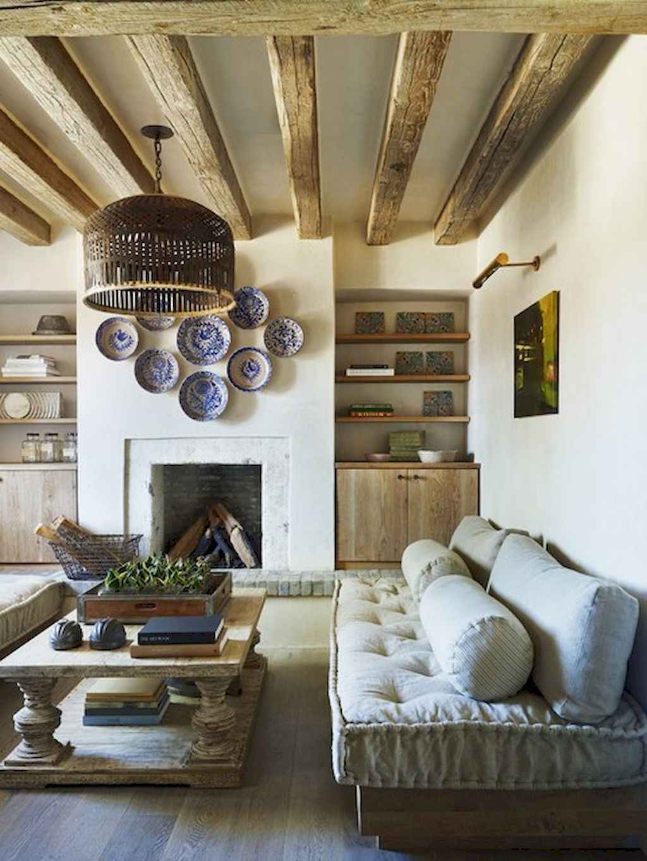 70 Rustic Farmhouse Living Room Decor Ideas (46)