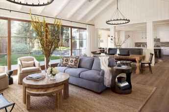 70 Rustic Farmhouse Living Room Decor Ideas (50)