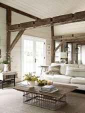 70 Rustic Farmhouse Living Room Decor Ideas (55)