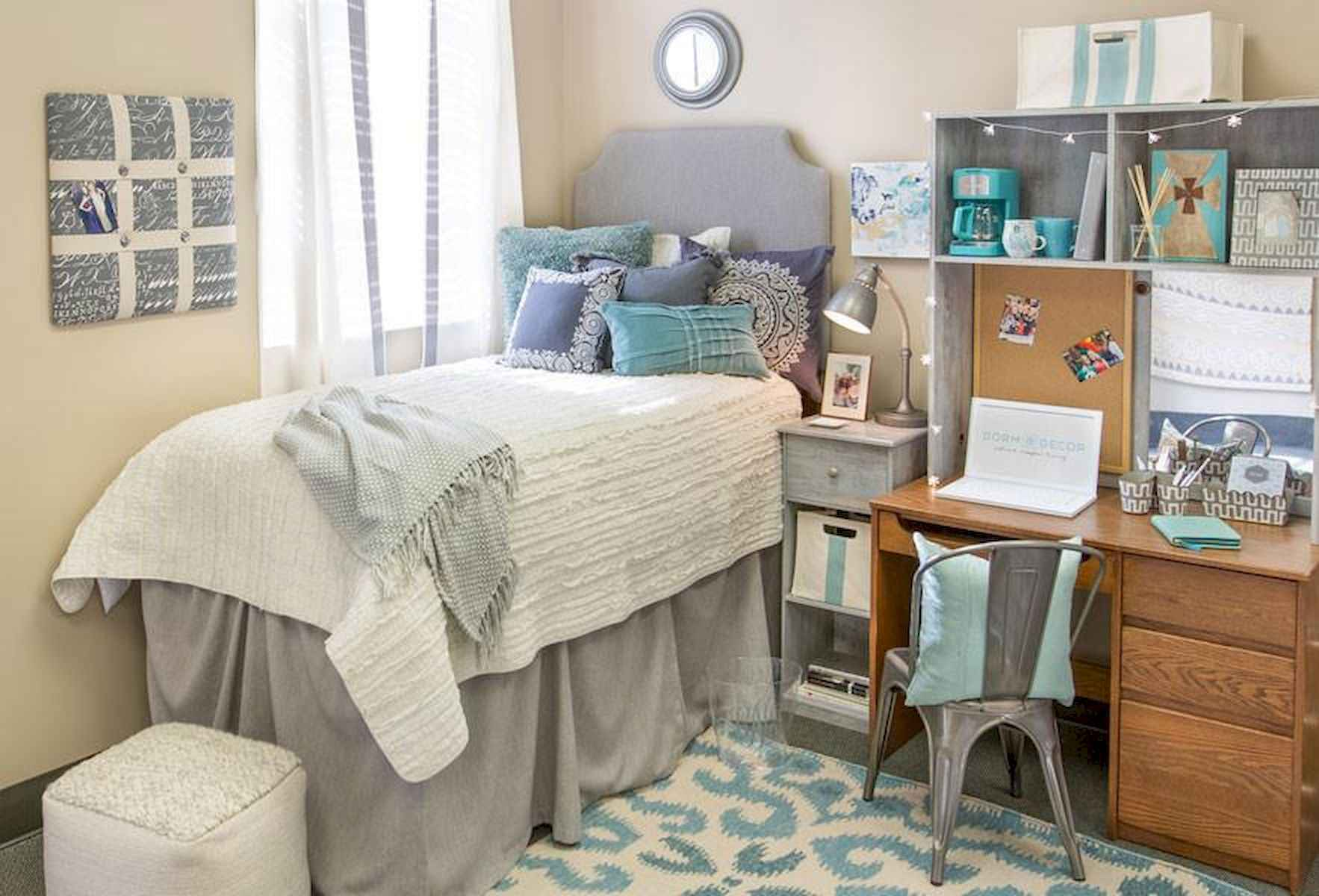 60 Gorgeous College Dorm Room Decorating Ideas And Makeover (25)