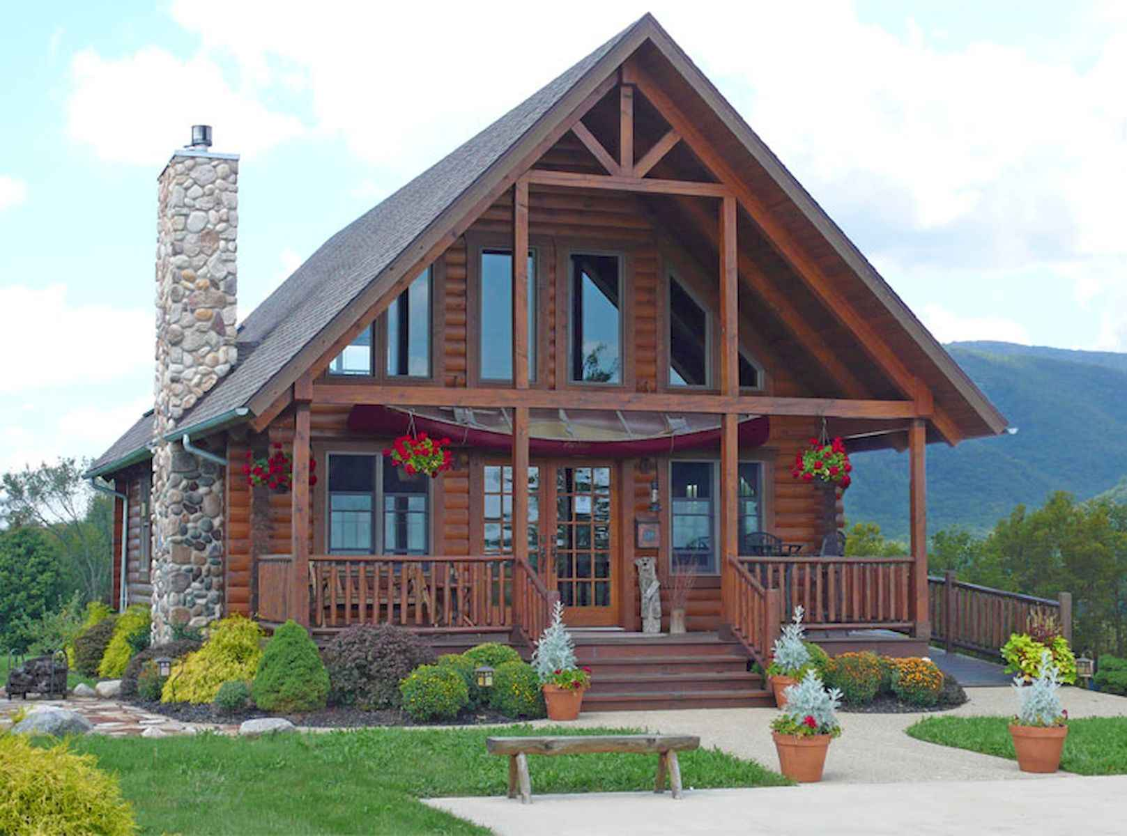 60 Rustic Log Cabin Homes Plans Design Ideas And Remodel (26)