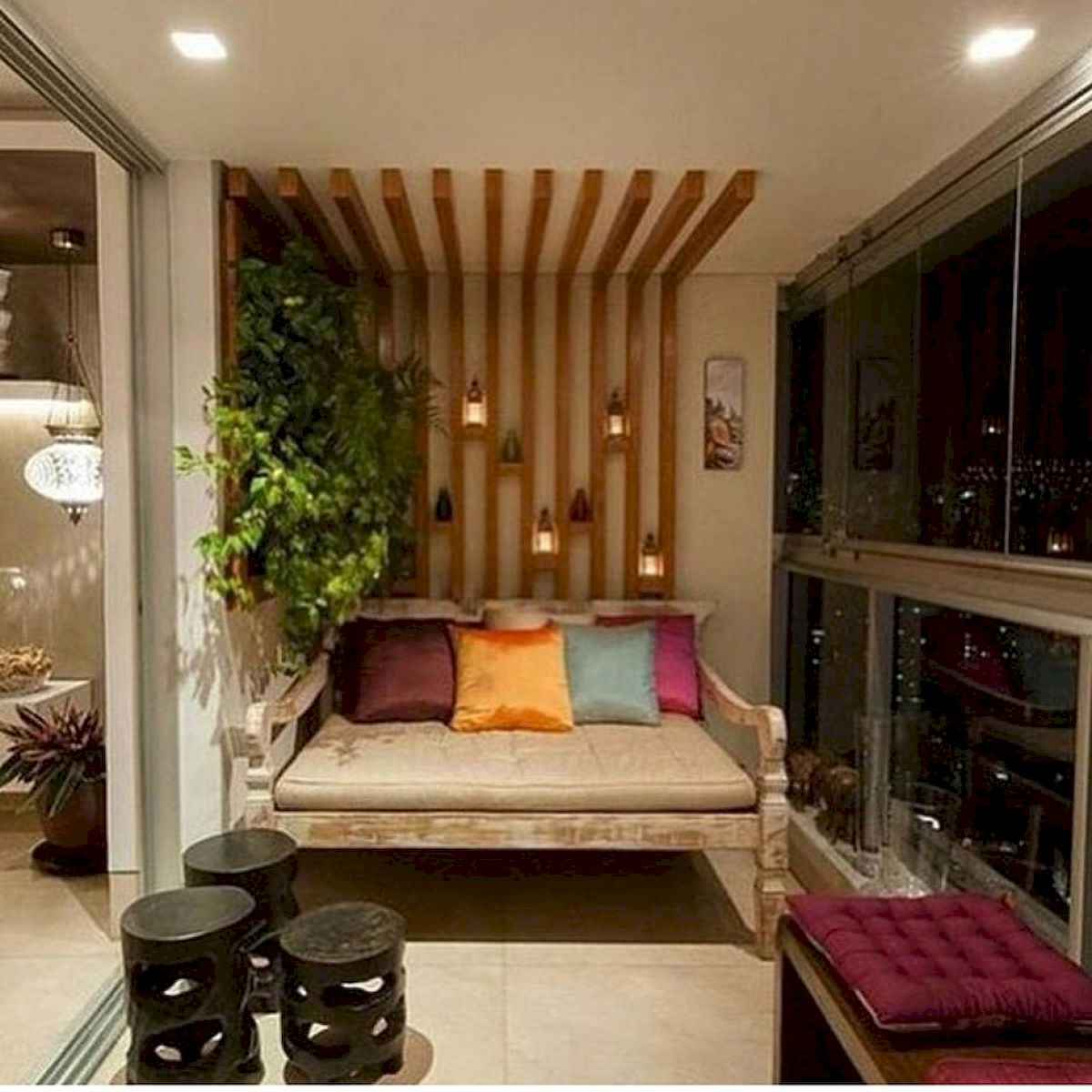 80 Small Apartment Balcony Decor Ideas And Makeover (61)