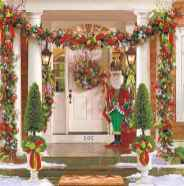 50 Creative Christmas Front Porch Decor Ideas And Makeover (19)