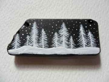 50 Creative DIY Christmas Painted Rock Design Ideas (38)