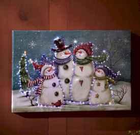 50 Creative DIY Christmas Painted Rock Design Ideas (51)
