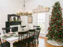 60 Creative Farmhouse Christmas Decorating Ideas And Makeover (40)