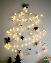 70 Creative Christmas Lights Apartment Decorating Ideas And Makeover (9)