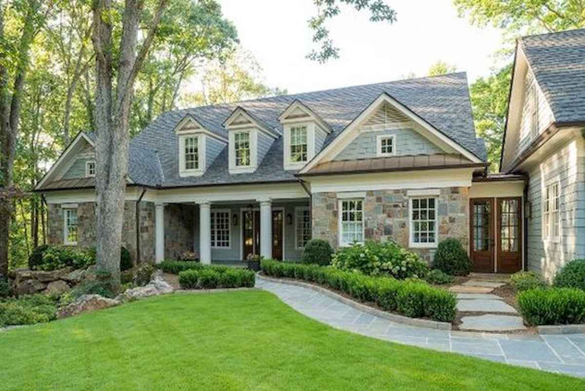 90 Simple and Beautiful Front Yard Landscaping Ideas on A Budget (46)