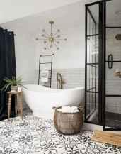 30 Best Farmhouse Bathroom Shower Decor (24)